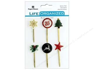Clearance: Paper House Collection Christmas Joy Epoxy Clips Christmas