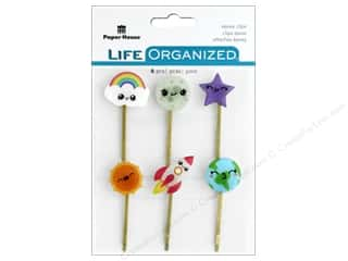 Paper House Collection Life Organized Epoxy Clips Kawaii