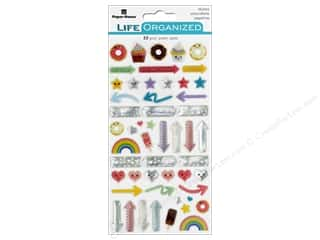 Paper House Collection Life Organized Sticker Epoxy Kawaii