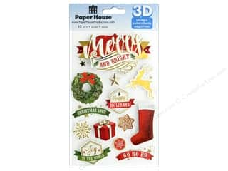 Paper House Life Org 3D Merry & Bright