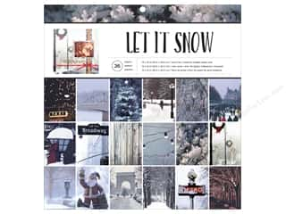 "American Crafts Paper Pad 12""x 12"" Holiday Photo Let It Snow"