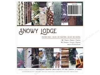 scrapbooking & paper crafts: American Crafts Paper Pad 6 in. x 6 in.  Holiday Photo Snowy Lodge