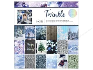 "scrapbooking & paper crafts: American Crafts Paper Pad 12""x 12"" Holiday Photo Twinkle"