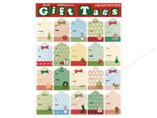 Heartnotes Sticker Christmas Tags Vintage String