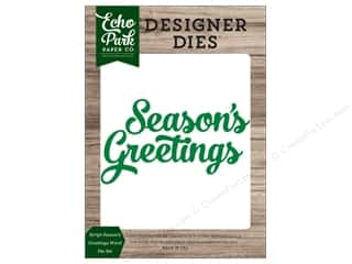 Clearance: Echo Park Collection Christmas Cheer Die Set Word Greeting
