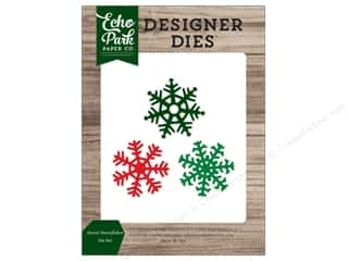 Clearance: Echo Park Collection Christmas Cheer Die Set Sweet Snowflake