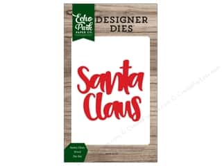Echo Park Collection Christmas Cheer Die Set Word Santa Claus