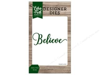 Clearance: Echo Park Collection Christmas Cheer Die Set Word Believe