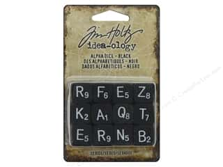 resin: Tim Holtz Idea-ology Halloween Alpha Dice Black