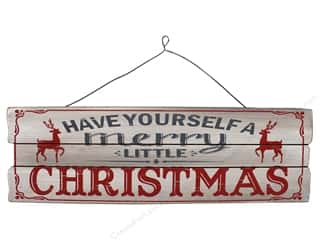 craft & hobbies: Sierra Pacific Crafts Wood Wall Art Plaque Merry Little Christmas