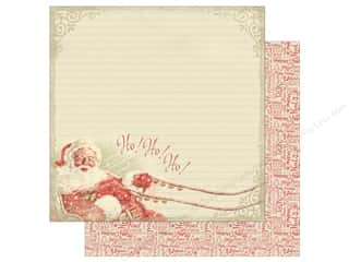 "Clearance: Authentique Vintage Christmas Paper 12""x 12"" Eight (25 pieces)"