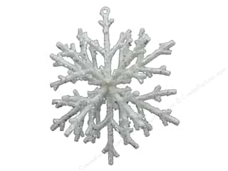 Sierra Pacific Crafts Plastic Snowflake 7.5 in. White