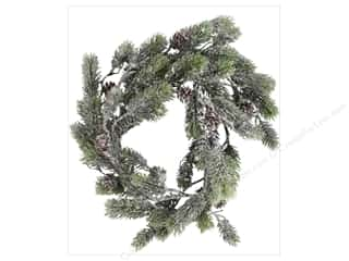 craft & hobbies: Sierra Pacific Crafts Decor Plastic Spray of Pine & Cones 72 in. Green/White