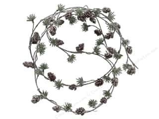 resin: Sierra Pacific Crafts Decor Garland Twig With Pine & Pinecones 72 in. Green/White