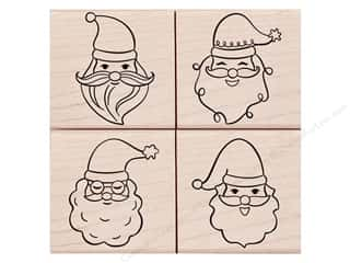 scrapbooking & paper crafts: Hero Arts Rubber Stamp Set Santa Faces