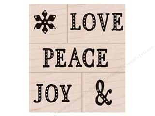 scrapbooking & paper crafts: Hero Arts Rubber Stamp Set Peace, Love, Joy