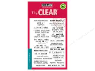 stamps: Hero Arts Poly Clear Stamp Off Beat Holiday Messages
