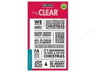 Hero Arts Poly Clear Stamp Poster Christmas Carols