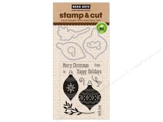 dies: Hero Arts Stamp & Cuts Holiday Ornaments