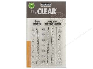 Hero Arts Poly Clear Stamp Christmas Sparkle Borders