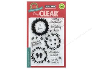 stamps: Hero Arts Poly Clear Stamp Color Layering Wreath