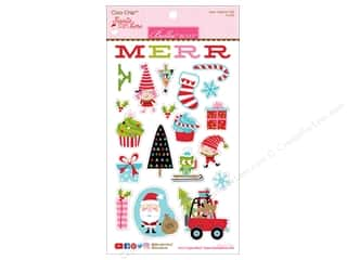 Clearance: Bella Blvd Santa Stops Here Sticker Chipboard Icons