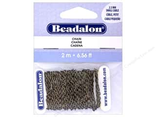 Chain: Beadalon Chain Cable Small 2.3mm Antique Brass 2M