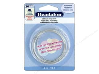 Beadalon German Style Wire 20ga Half Round Silver Plated 9.8 ft.