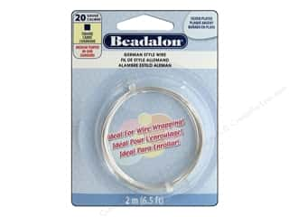 Beadalon German Style Wire 20ga Square Silver Plated 6.5 ft.
