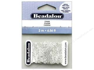 Chain: Beadalon Chain Cable Dapped Small 2.3mm Silver Plate 2M