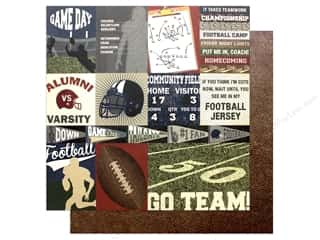 Photo Play Collection End Zone Paper 12 x 12 in. Go Team