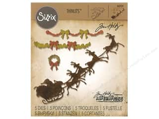 die cuts: Sizzix Dies Tim Holtz Thinlits Village Christmastime
