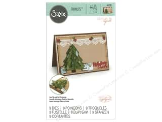 Clearance: Sizzix Katelyn Lizardi Thinlits Die Set 9 pc. Flip and Fold Christmas Tree