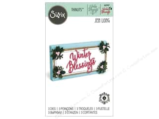 die cuts: Sizzix Dies Jen Long Thinlits Winter Blessings