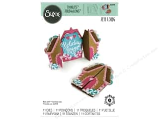die cuts: Sizzix Dies Jen Long Thinlits Fold-A-Long Gingerbread