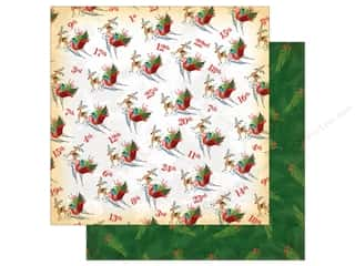 Carta Bella Collection A Very Merry Christmas Paper 12 in. x 12 in. Christmas Countdown (25 pieces)