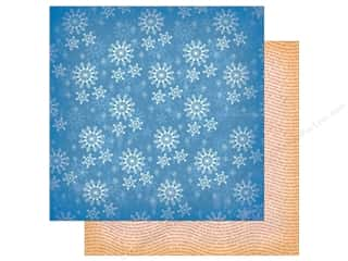 """Carta Bella Collection A Very Merry Christmas Paper 12""""x 12"""" Winter Snowflakes (25 pieces)"""