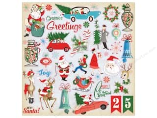 Carta Bella Collection A Very Merry Christmas Sticker 12 x 12 in. Elements