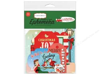 Carta Bella Collection A Very Merry Christmas Ephemera Frames & Tags
