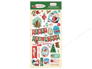 Carta Bella Collection A Very Merry Christmas Chipboard 6 x 12 in.
