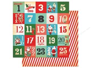 Carta Bella Collection A Very Merry Christmas Paper 12 in. x 12 in.  Days Of Christmas Journaling Cards