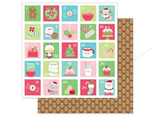 scrapbooking & paper crafts: Doodlebug Collection Milk & Cookies Paper 12 in. x 12 in. Jolly Gingerbread (25 pieces)