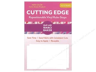 ruler: C&T Publishing Cutting Edge Vinyl Ruler Stops White 10pc