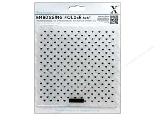 scrapbooking & paper crafts: Docrafts Xcut Embossing Folder 6 in. x 6 in. Small Polka Hearts