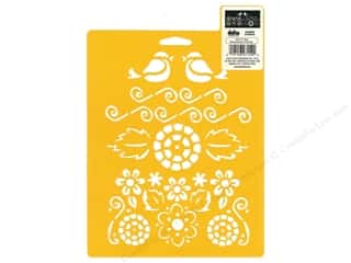 craft & hobbies: Delta Stencil Mania 7 in. x 10 in.  Song Birds