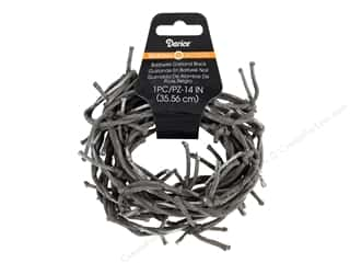 twine: Darice Barbwire Garland 14 in. Black