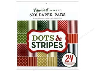 Echo Park Collection Dots & Stripes Christmas Paper Pad 6 in. x 6 in.
