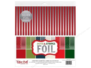 Echo Park Collection Dots & Stripes Silver Foil Combo Collection Kit 12 in. x 12 in.