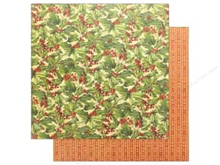 scrapbooking & paper crafts: Graphic 45 Winter Wonderland Paper 12 in. x 12 in. Holly (25 pieces)
