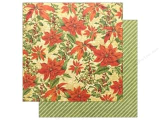 scrapbooking & paper crafts: Graphic 45 Winter Wonderland Paper 12 in. x 12 in. Poinsettia (25 pieces)